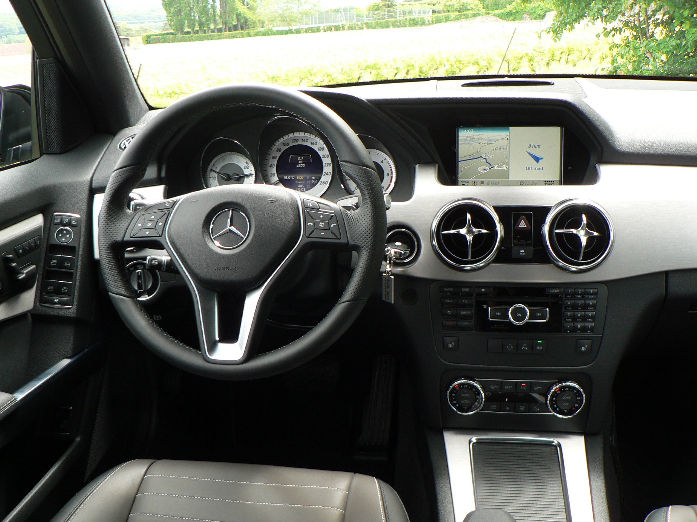 what hasnt changed is the glks comparatively lack of interior space its one of the shortest and narrowest in its class three adults in its second row - Mercedes Glk 2013 Interior