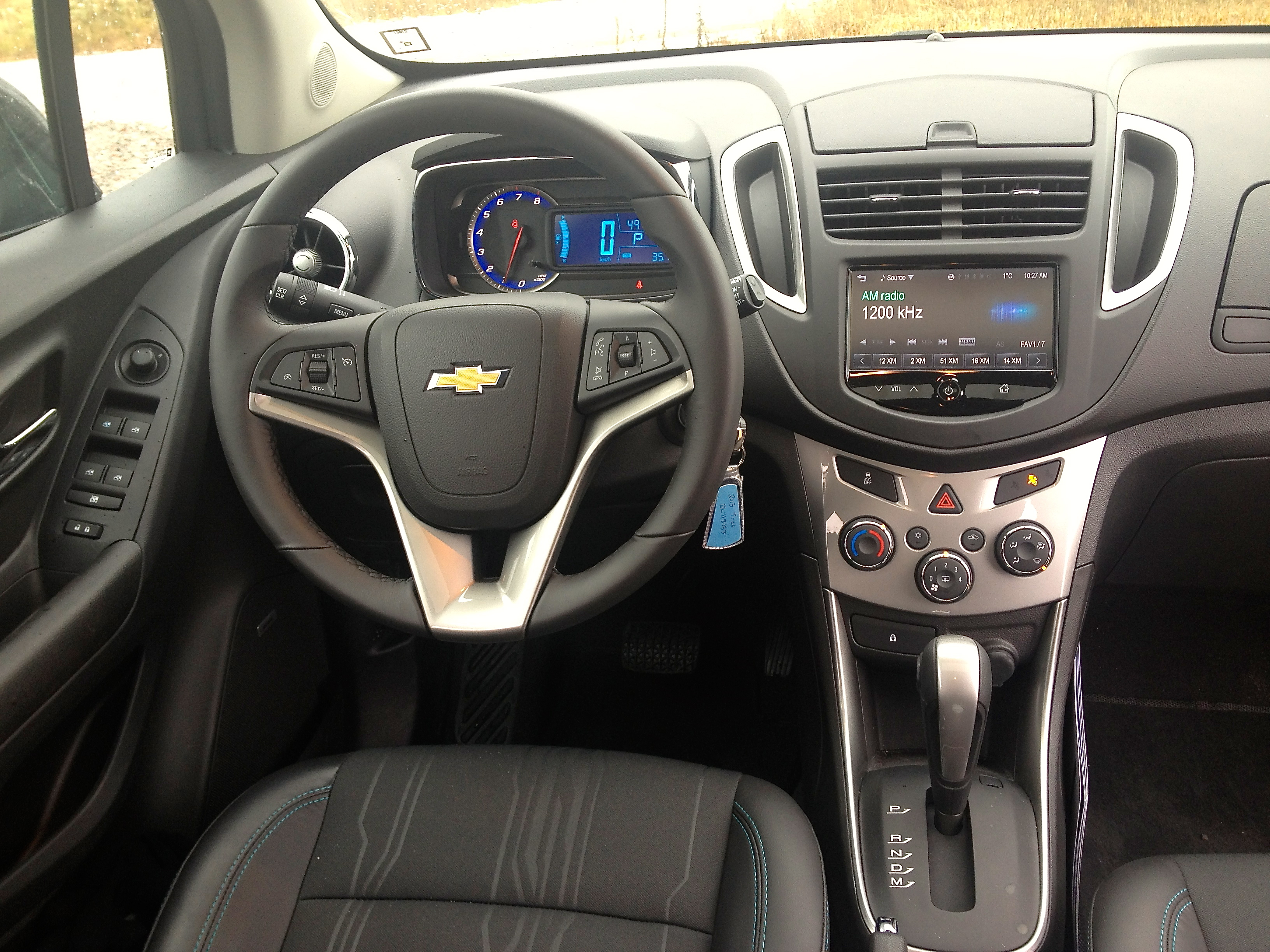 First drive 2013 chevrolet trax john leblancs straight six i have few qualms with the traxs interior design a tilt and telescopic steering wheel and supportive front seats deliver an excellent driving position sciox Gallery
