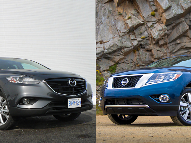 comparo 2013 mazda cx 9 versus nissan pathfinder john. Black Bedroom Furniture Sets. Home Design Ideas